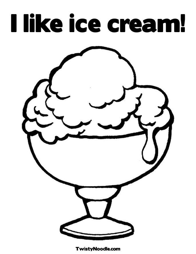 Ice Cream Sundae Cartoon.