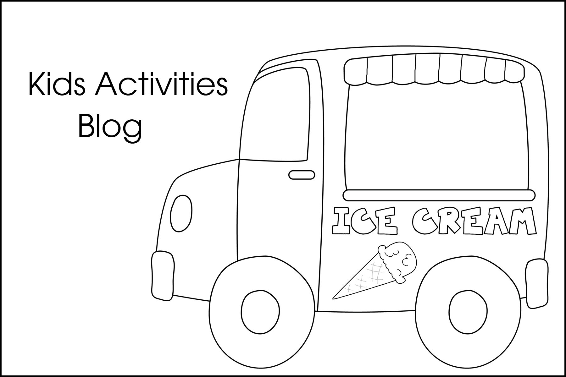 Ice Cream Coloring Pages {Free Printable!}.