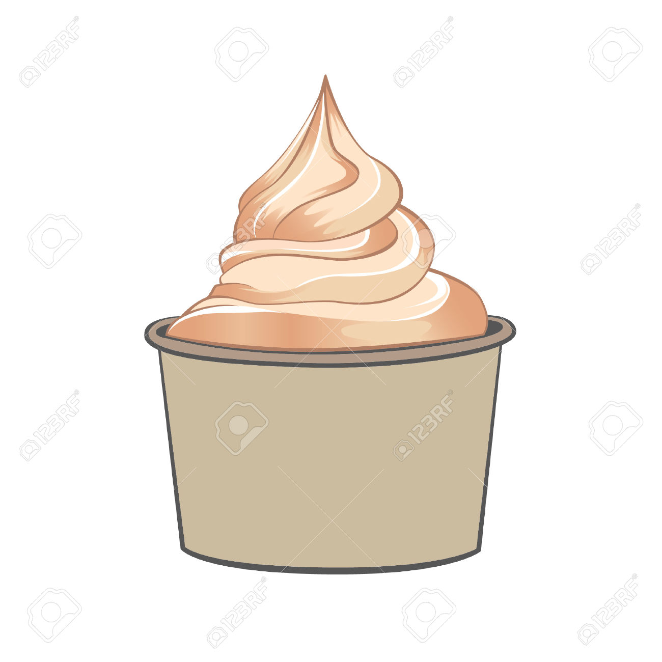 Clipart ice cream cup.