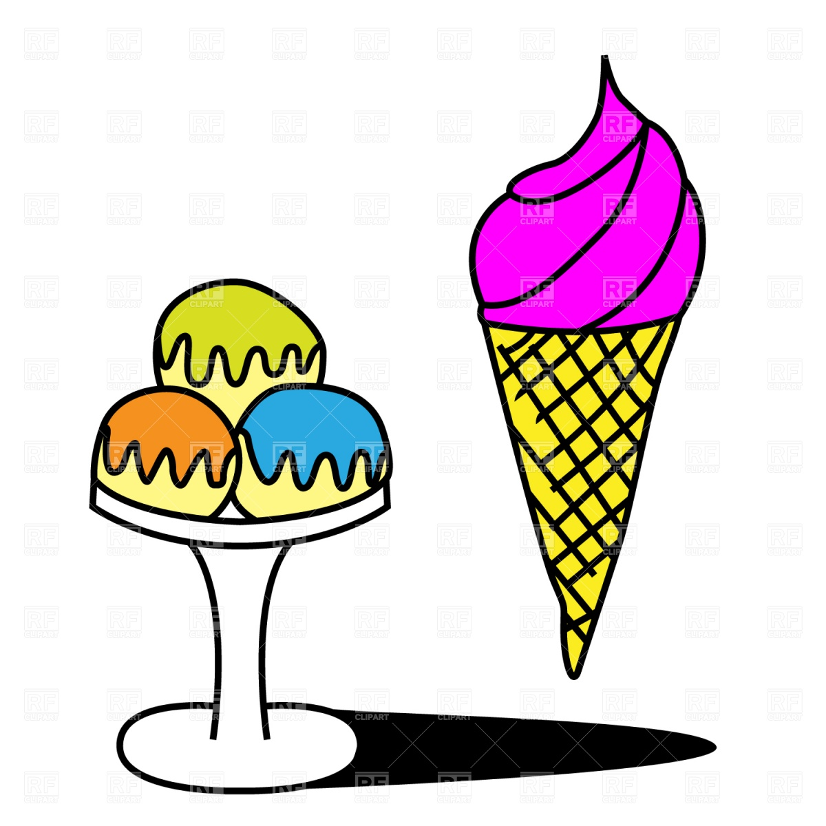 Ice Cream Cup Clipart.