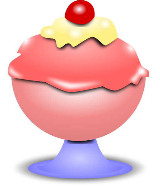 Free Ice Cream Cup Clipart Image.