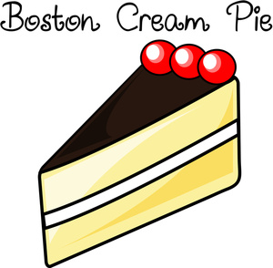 Boston Cream Pie Clipart.