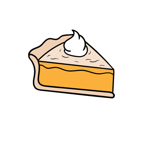 Too Much Pie Clipart.