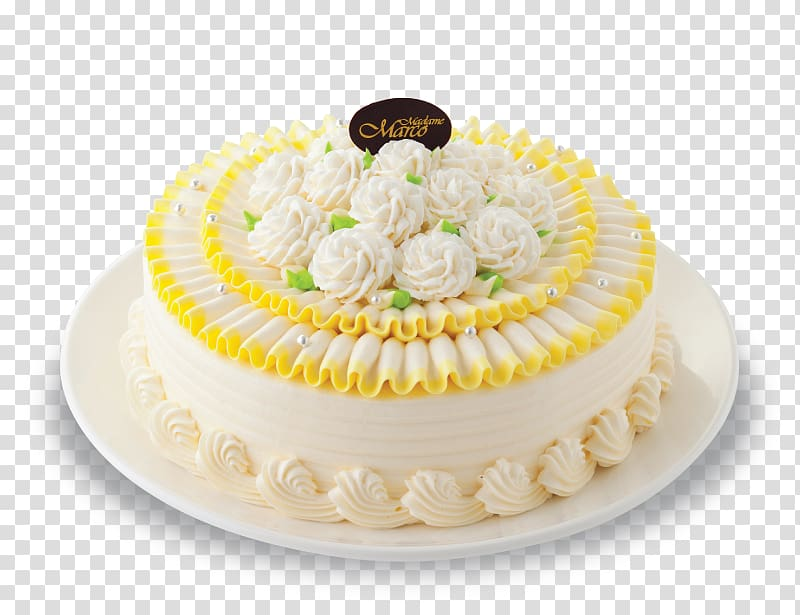 Cream pie Sugar cake Cake decorating Buttercream, ิbakery.