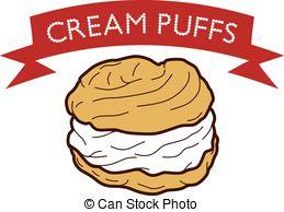 Cream puff clip art.