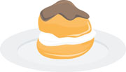 Cream Puff Clipart.