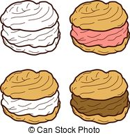 Cream puff Vector Clipart Illustrations. 177 Cream puff clip art.