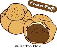 Vector Clipart of delicious cream puff.