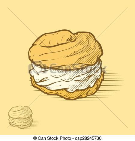 Cream Puff Clipart.