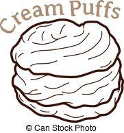 Cream puff Vector Clipart Illustrations. 177 Cream puff clip art.