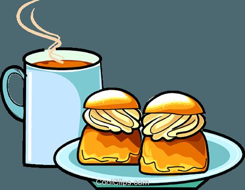 Swedish selma cream buns Royalty Free Vector Clip Art illustration.