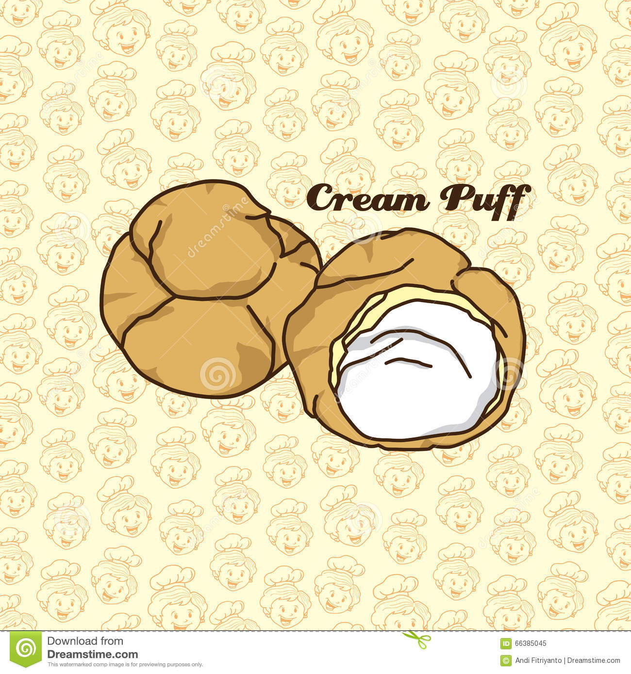 Cream Puff Stock Illustrations.