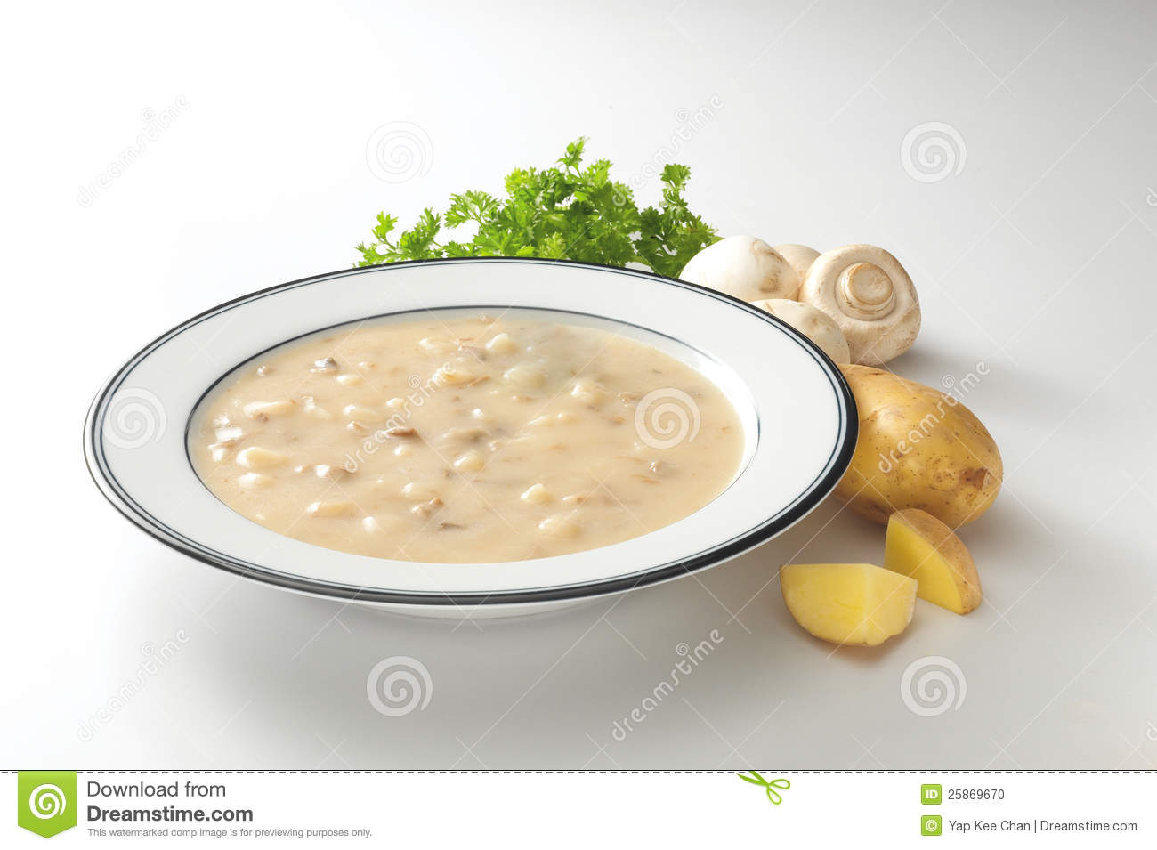Cream Mushroom Soup Stock Photos, Images, & Pictures.