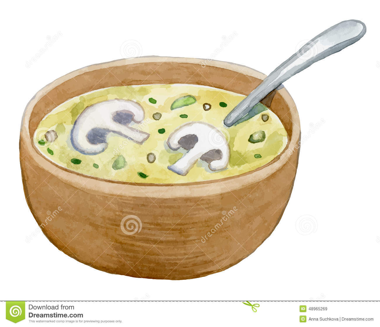 Vegetable Soup Stock Illustrations.
