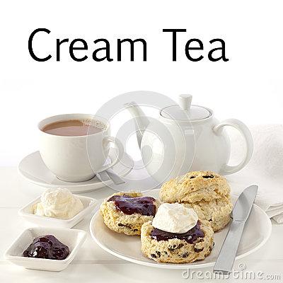 Cream tea clipart.