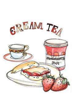 Clipart Cream Tea.