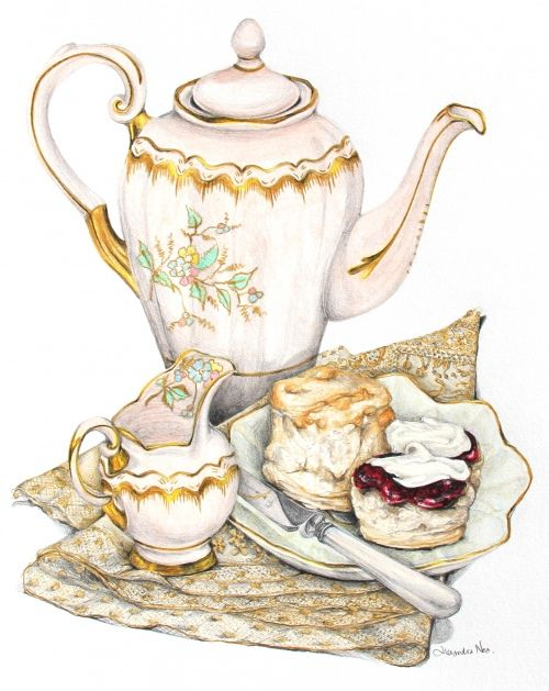 Scones With Jam And Cream Clipart.