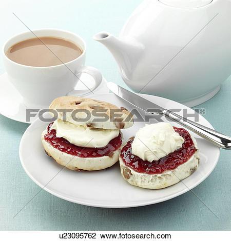 Stock Photo of cream tea u23095762.