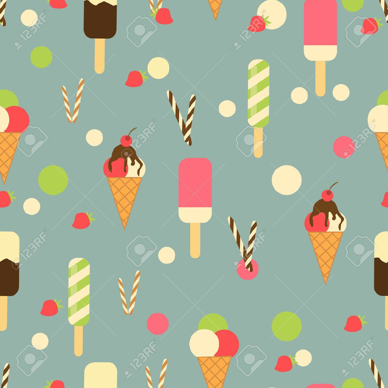 Ice Cream Clipart Wallpaper.