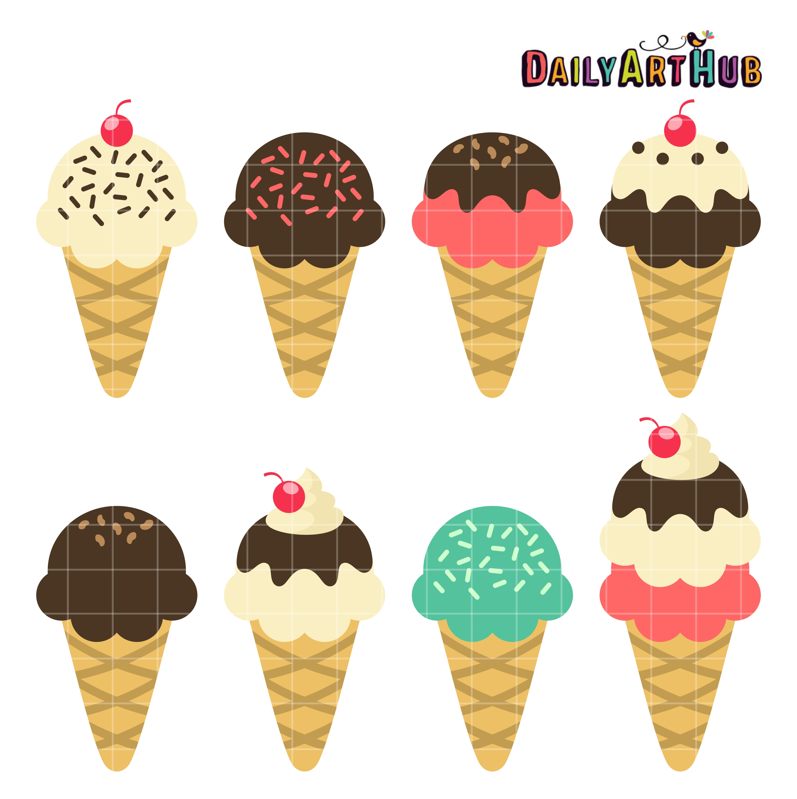 Ice cream clip art pictures.