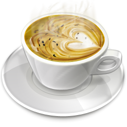 Creamy Heart Coffee Icon, PNG ClipArt Image.