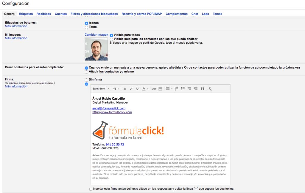Cómo hacer la firma de email perfecta en 5 pasos de forma sencilla.