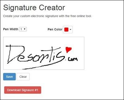 Crear firmas digitales para documentos.
