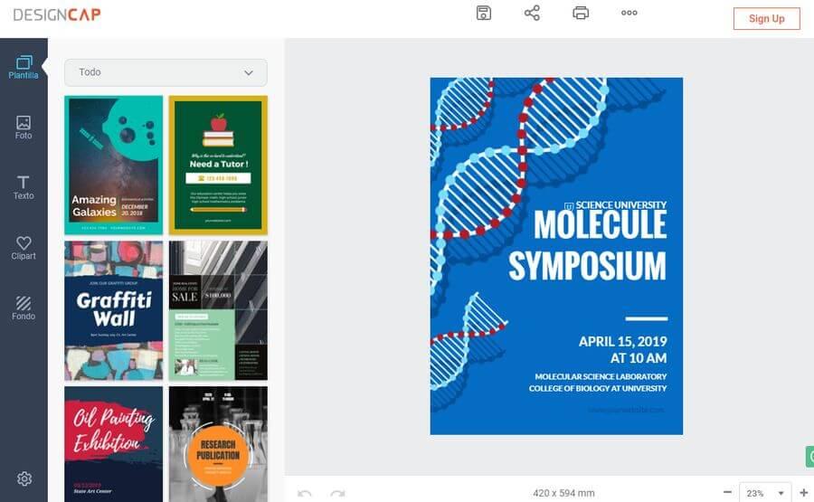 Crear poster online gratis y fácilmente con Free Online.