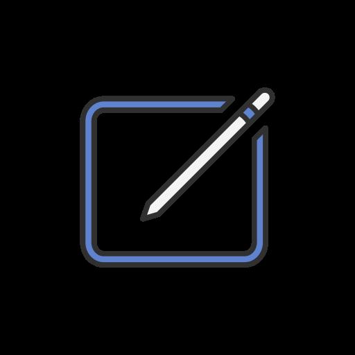 Icono Crear, editar, lápiz, post Gratis de Facebook UI.