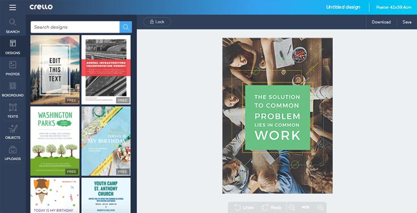 Plantillas de carteles — Creador de carteles online gratis — Diseño.