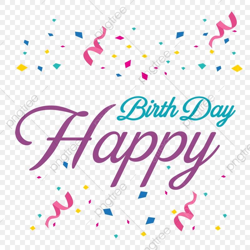 Feliz Cumpleaños Letras, Feliz, Cumpleaños, Nacimiento PNG y Vector.