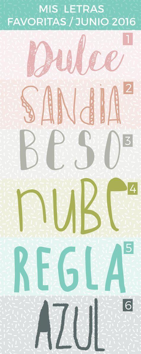 Tipos de letras para hacer cartelitos.