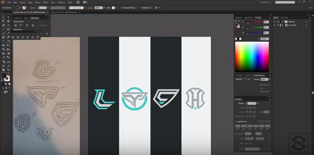 Cómo crear logos con letras difíciles.
