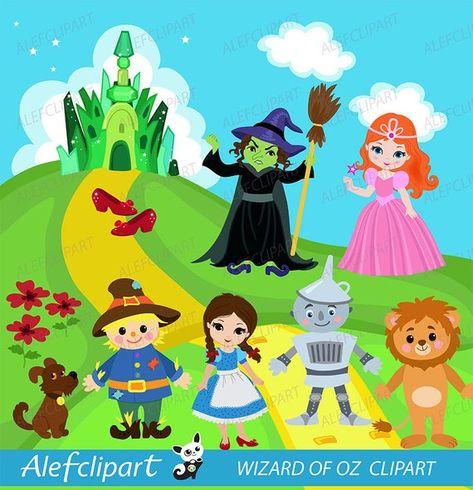 Mago di Oz clipart insieme! : Divertiti a creare con questi.