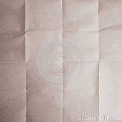 Brown Crease Paper Royalty Free Stock Photography.
