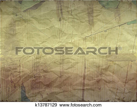 Clip Art of Creased paper with wood effect in light shade.