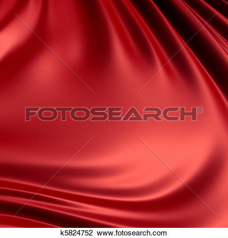 Clip Art of Red creased cloth / material. Clean, detailed render.