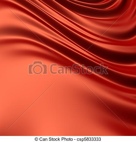 Drawings of Red creased cloth / material. Clean, detailed render.