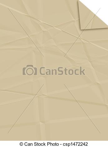 Clip Art of Creased Brown Paper.