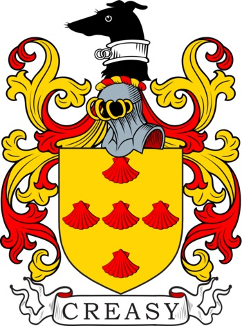 Creasy Coat of Arms Meanings and Family Crest Artwork.