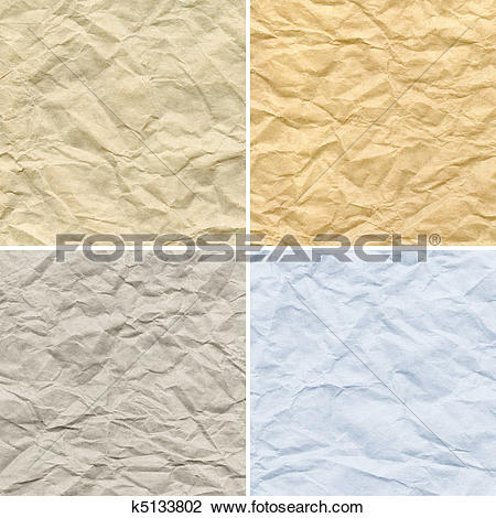 Stock Photo of Creasy paper k5133802.