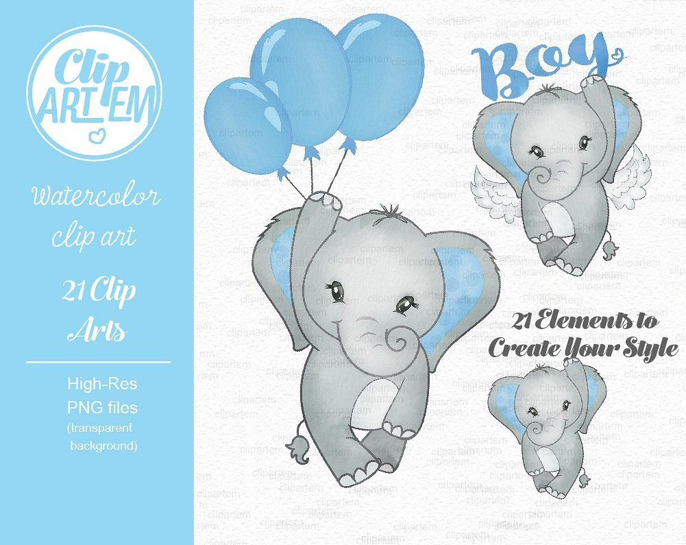 Baby blue elephant its a boy clipart #include#collection.