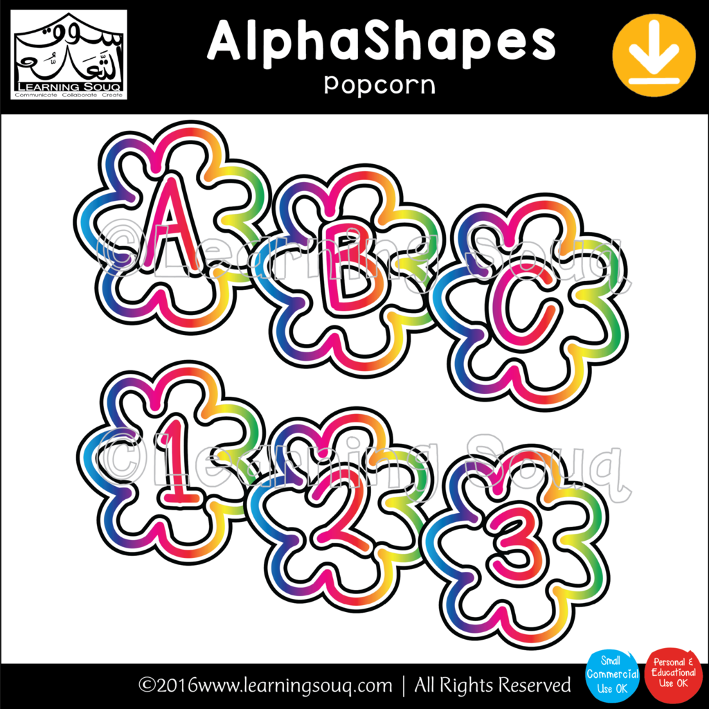 AlphaShapes Clip Art.