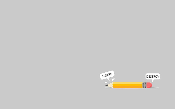 HD wallpaper: Create and Destroy clipart, minimalism, crayon.