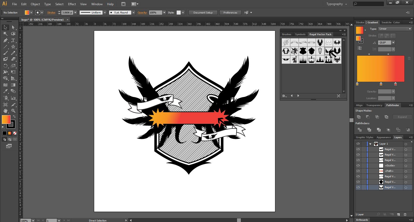 Easy Steps To Create Logo Design In Illustrator.