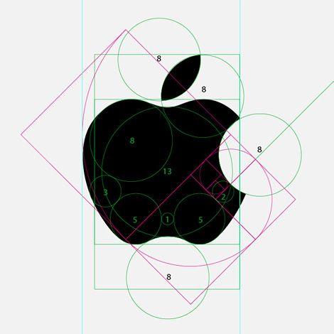 Branding: Dissected Apple logo & the golden ratio. #logo.