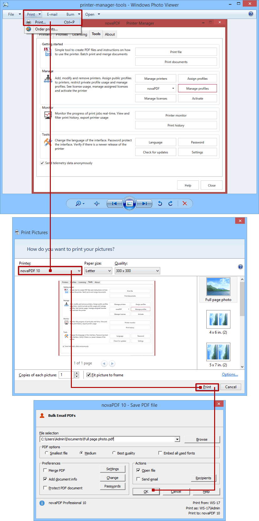 Convert JPG to PDF (or other image formats to PDF).