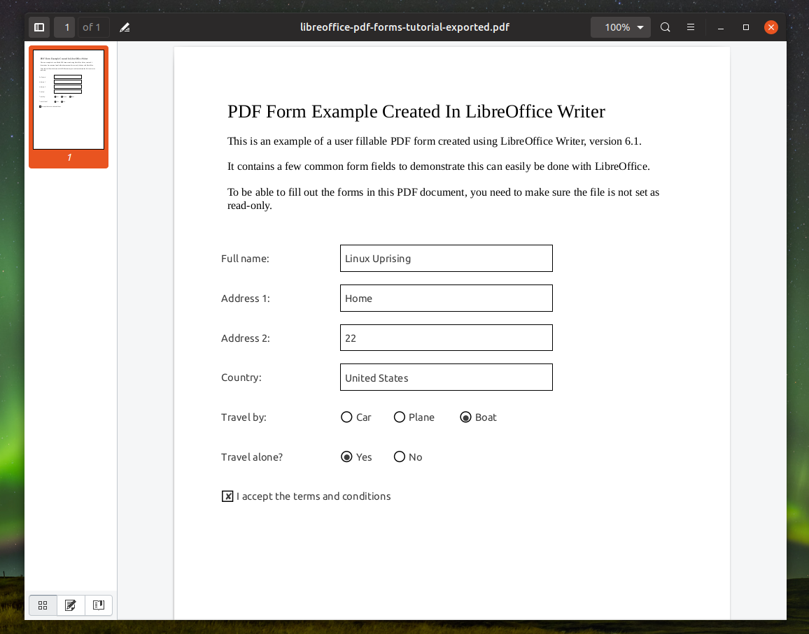 How To Create Fillable PDF Forms With LibreOffice Writer.