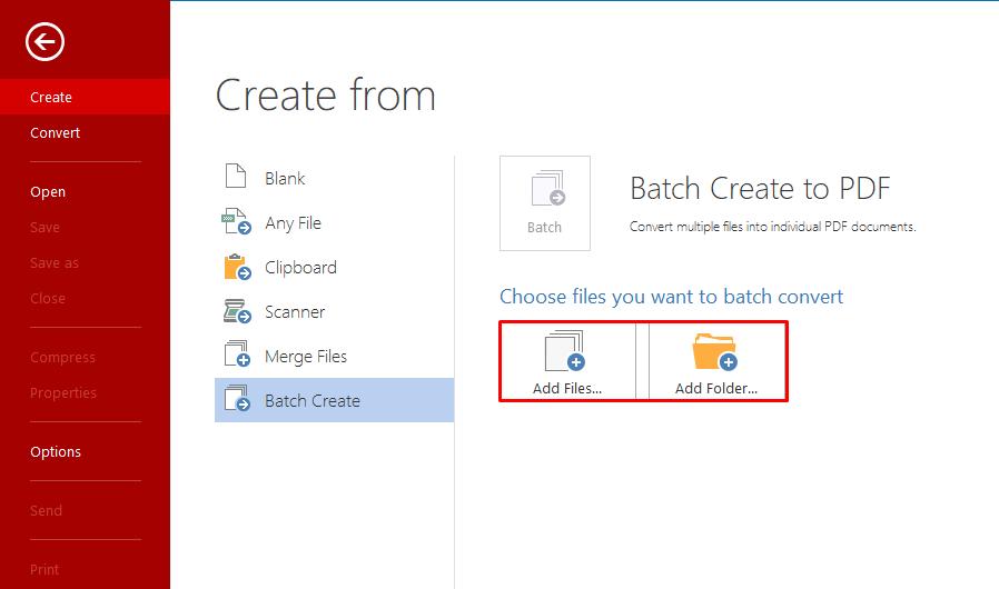 How to batch create PDF files.