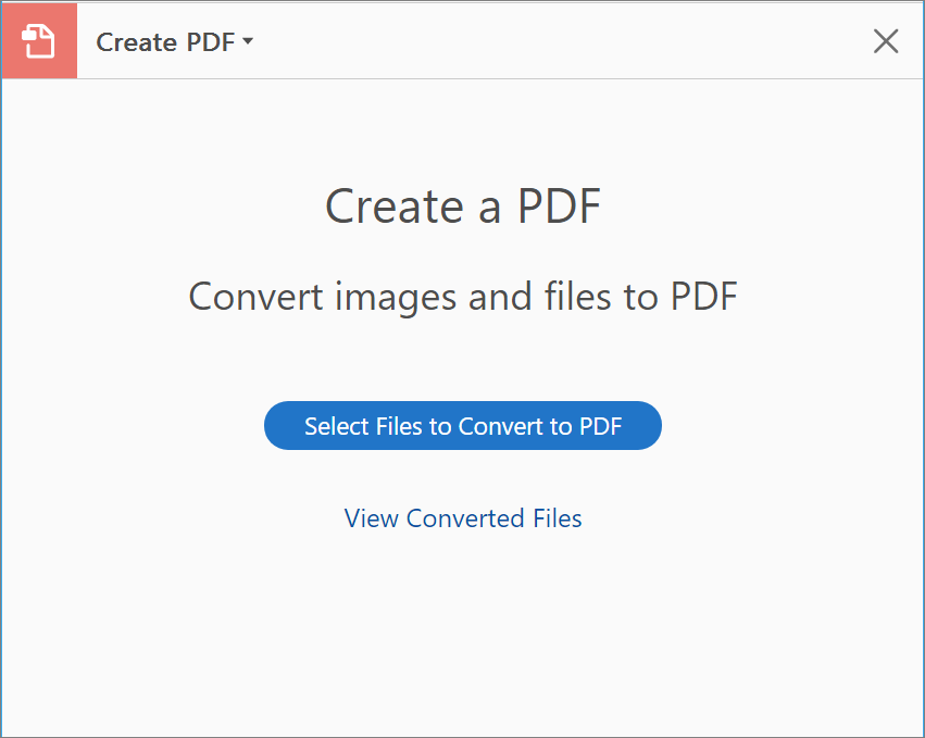 Create PDFs, export PDFs, or access other online services.